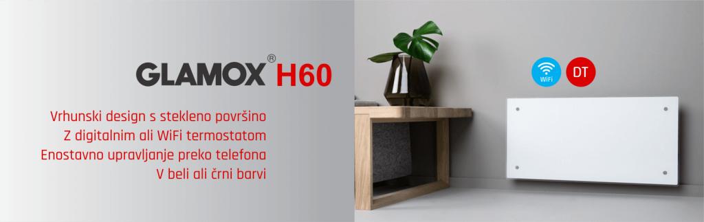 Električni radiator z WiFi - GLAMOX H60